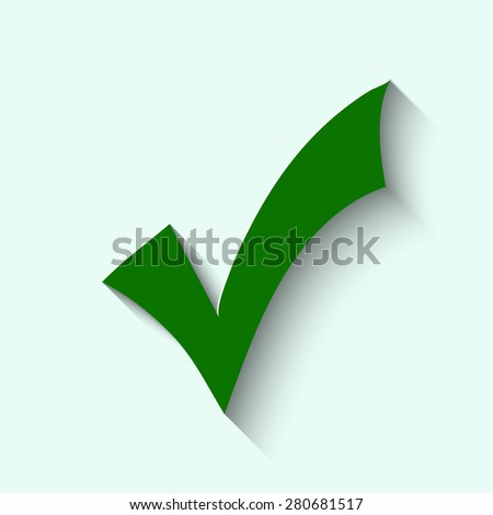 Green illustration of check marks