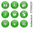 Green internet buttons 2 - stock vector