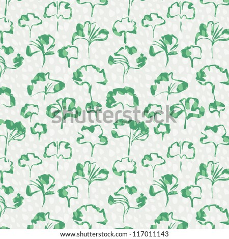 green leaves seamless pattern vector eps 10