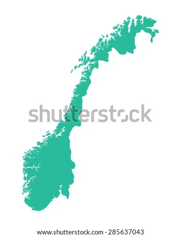 green map of Norway