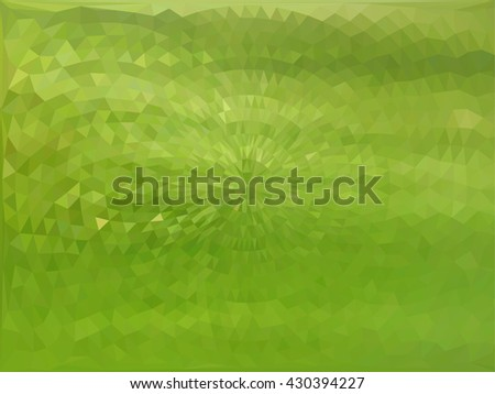 Green triangle circle abstract background