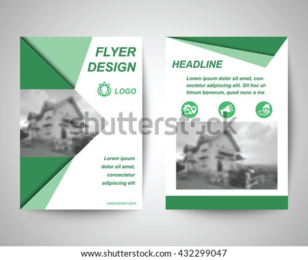 Sada Flyer Template Uživatele Tulpahn Ve Službě Shutterstock - House brochure template