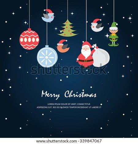 Greeting card, Christmas and new year card,vector and illustration can be used for wallpaper, background, backdrop