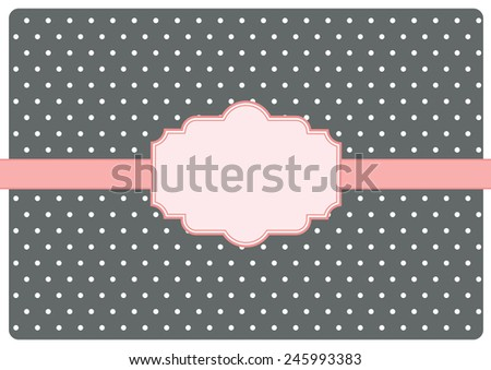 greeting card with label. vector