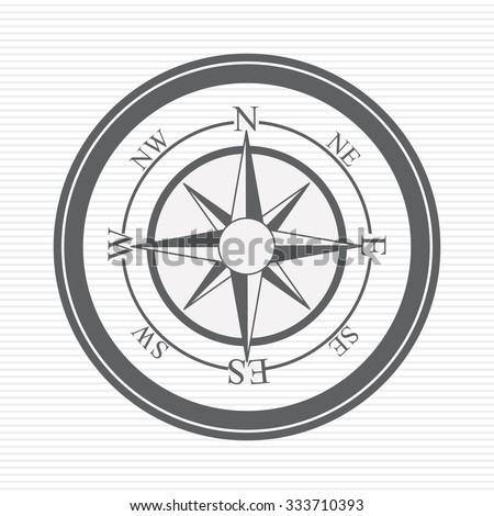 grey compass concept over white background design, vector illustration eps 10