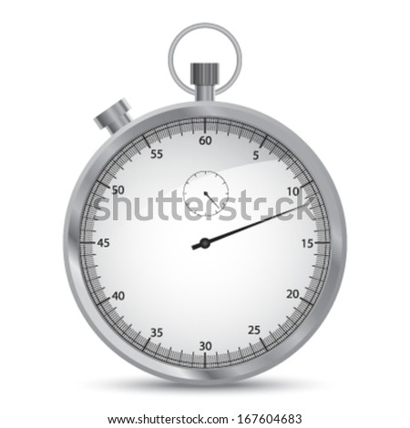 Grey metalic vector stopwatch