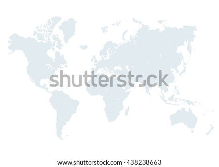 World Map Design Vector Illustration Empty Stock Vector - World map without names