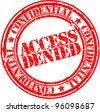 Grunge access denied rubber stamp, vector illustration - stock photo