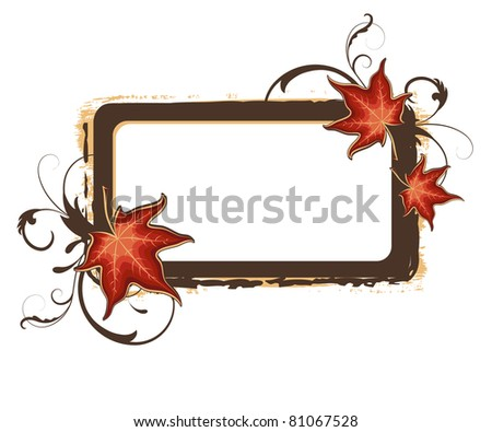 grunge autumn vector color frame