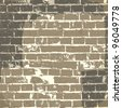 Grunge brick wall background for your message. Vector, EPS10 - stock vector