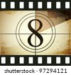 Grunge film countdown - stock vector