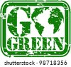 Grunge go green rubber stamp, vector illustration - stock vector