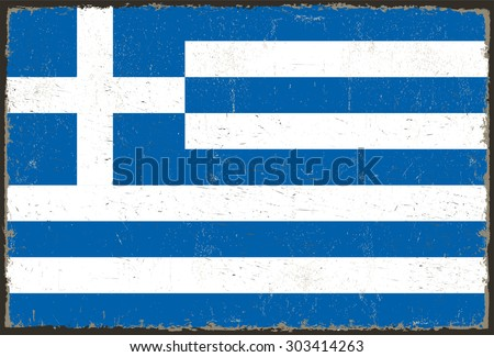 Greek grunge flag old flag greece stock vector 75088918 for Greek flag template