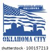 Grunge label with name of Oklahoma, Oklahoma City, vector illustration - stock photo
