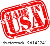 Grunge made in USA rubber stamp, vector illustration - stock vector
