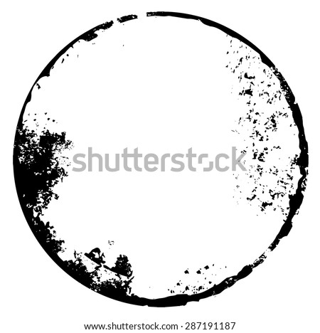 Distressed Circle Stamp Vector Black Color Stock Vector 538753099 ...