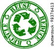 Grunge reduce, reuse and recycle rubber stamp, vector illustration - stock photo