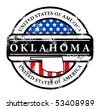 Grunge rubber stamp with name of Oklahoma, vector illustration - stock vector