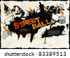 Grunge Street Ball Poster - stock vector