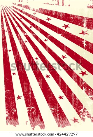 grunge sunbeams paper. A grunge poster with red sunbeams