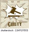 guilty symbol over beige background. vector illustration - stock vector