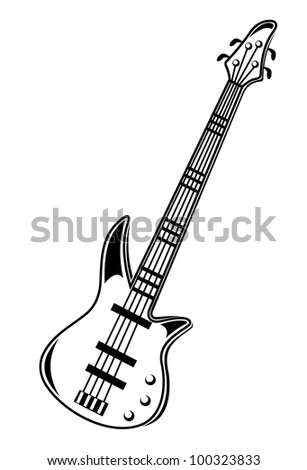 Guitar isolated on white background. Jpeg version also available in gallery