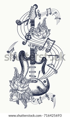how to draw designs on a guitar