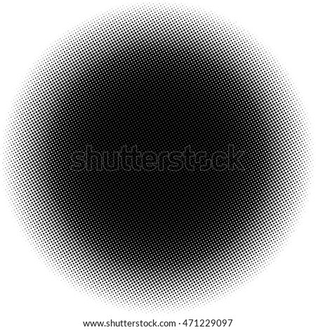 Halftone black Dots Circle. Vector Illustration