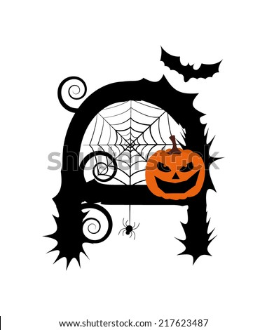 Solid Icons Halloween Evilbatpumpkinvector Illustrations Stock ...