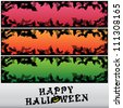 Halloween banner set - stock vector