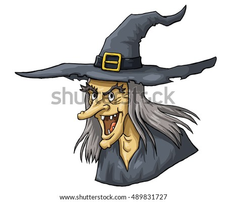 Pirate Hat Drawing Witch Flying On Broom ...
