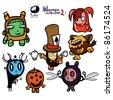 Halloween creatures - stock vector