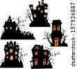 Halloween House - stock vector