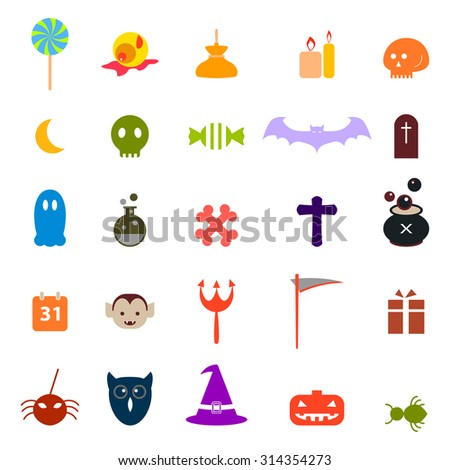Halloween icons set vector eps 10
