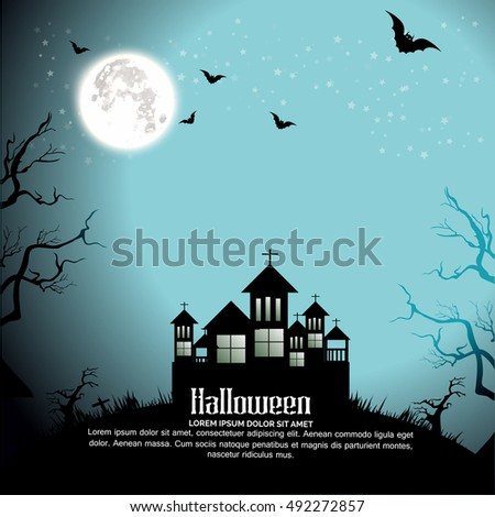 Halloween Party Background,Happy Halloween message design background.