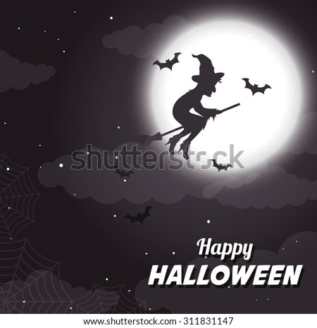 Halloween party design, vector illustration eps 10.