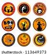 Halloween Vector banners or drink coasters. - stock vector