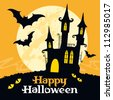 Halloween vector card. Vector art - stock vector