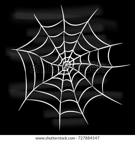 Vector Black Widow Spider On Spiders Stock Vector ...