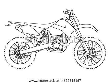 Bike Motorbike Flat Vector Illustration Set 683501962 on new yamaha motor