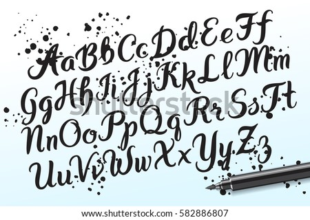 Custom of write letters handwritten