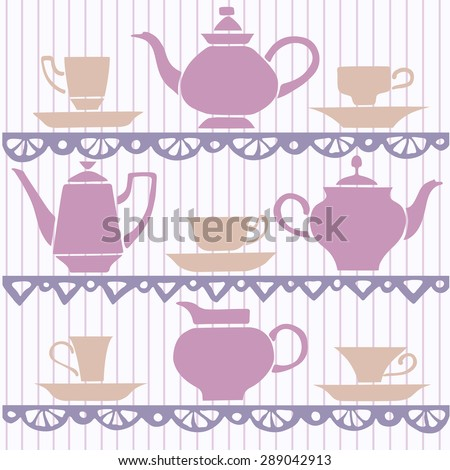 Hand drawn china set vector color background