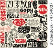 hand drawn design elements, crazy doodle set - stock vector