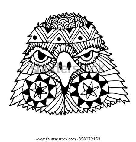Owl Drawing By Hand Vector Illustration Stock Vector