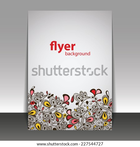 Hand Drawn Floral Pattern - Flyer or Cover Design Template