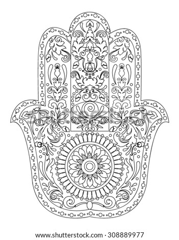 Handdrawn henna abstract mandala flowers paisley stock for Henna coloring pages