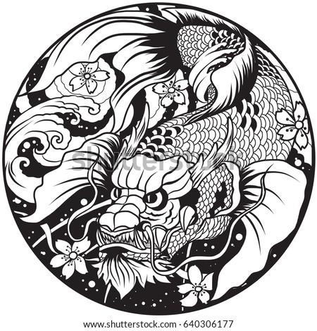 Hippocampus Kelpie Mythological Seahorse Black White Stock