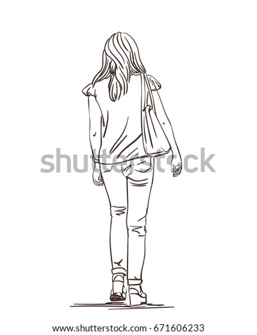 Anime Girl Back View Drawing Www Picturesso Com