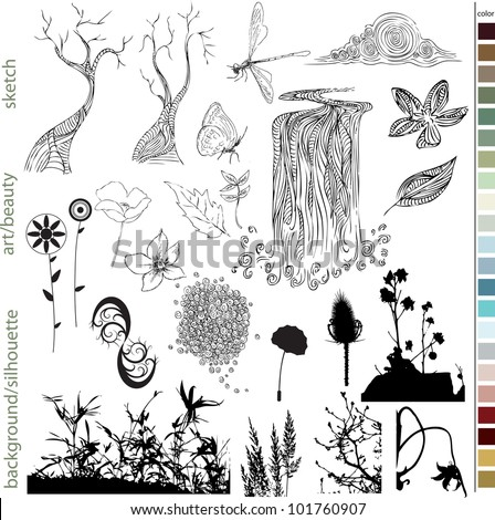 Hand Drawn Natural Elements