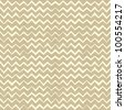 Hand drawn Seamless zigzag pattern on linen canvas background. Vintage rustic burlap chevron. eps 10 - stock vector